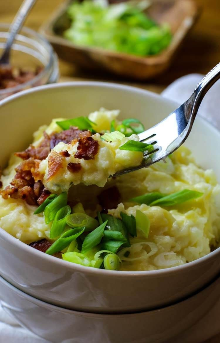 Instant Pot Loaded Mashed Potatoes #instantpotmashedpotatoes