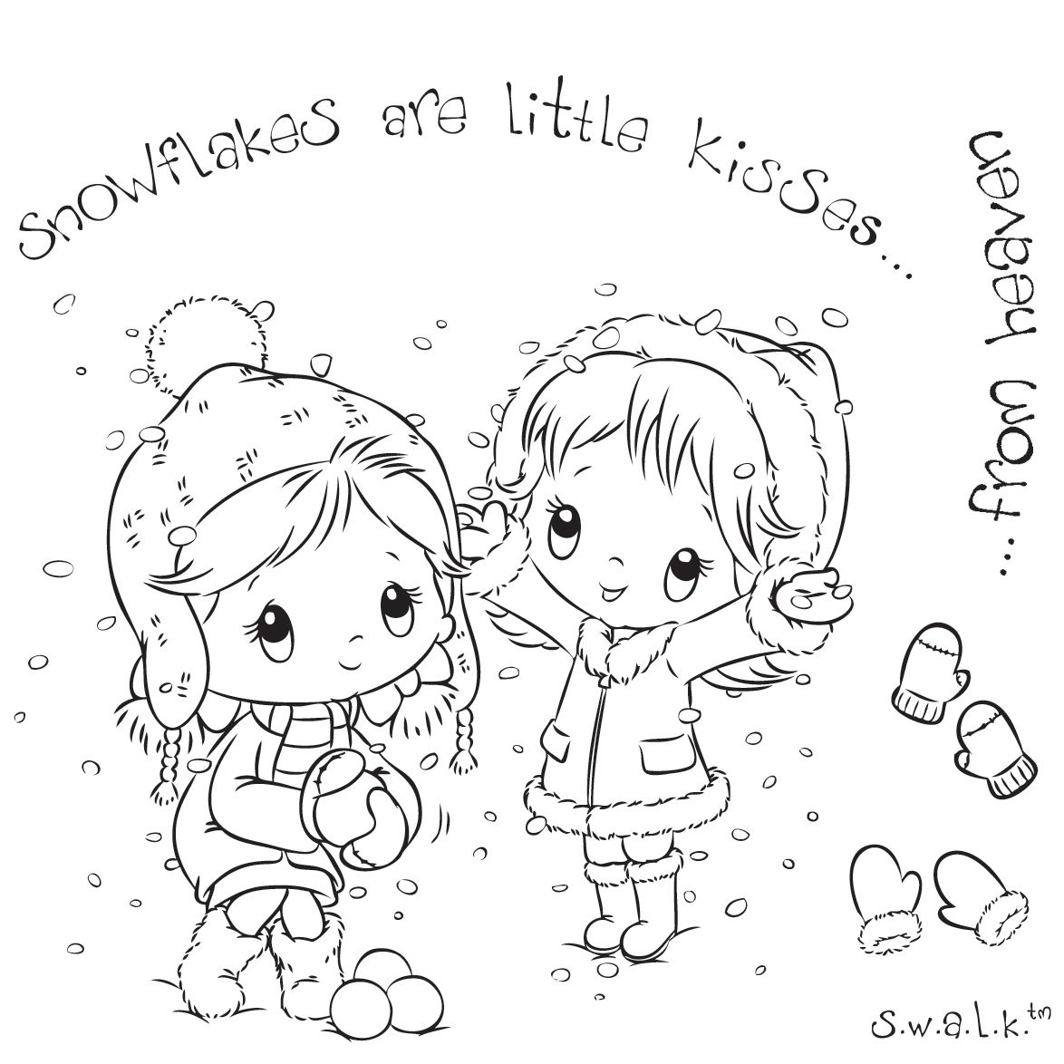 S W A L K Swalk Crafter S Companion Stamp Kisses From Heaven Digital Stamps Christmas Digital Stamps Digi Stamps