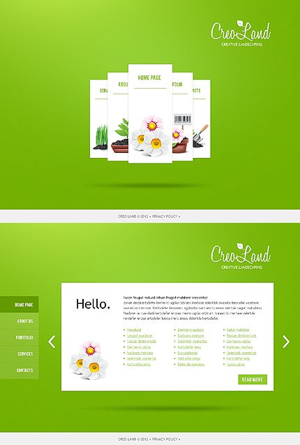 Template 37330 - Single Page Landscaping HTML5 Website Template ...