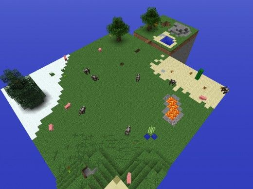 Floating Doom Island Minecraft Survival Island Map | Vincys mine ...