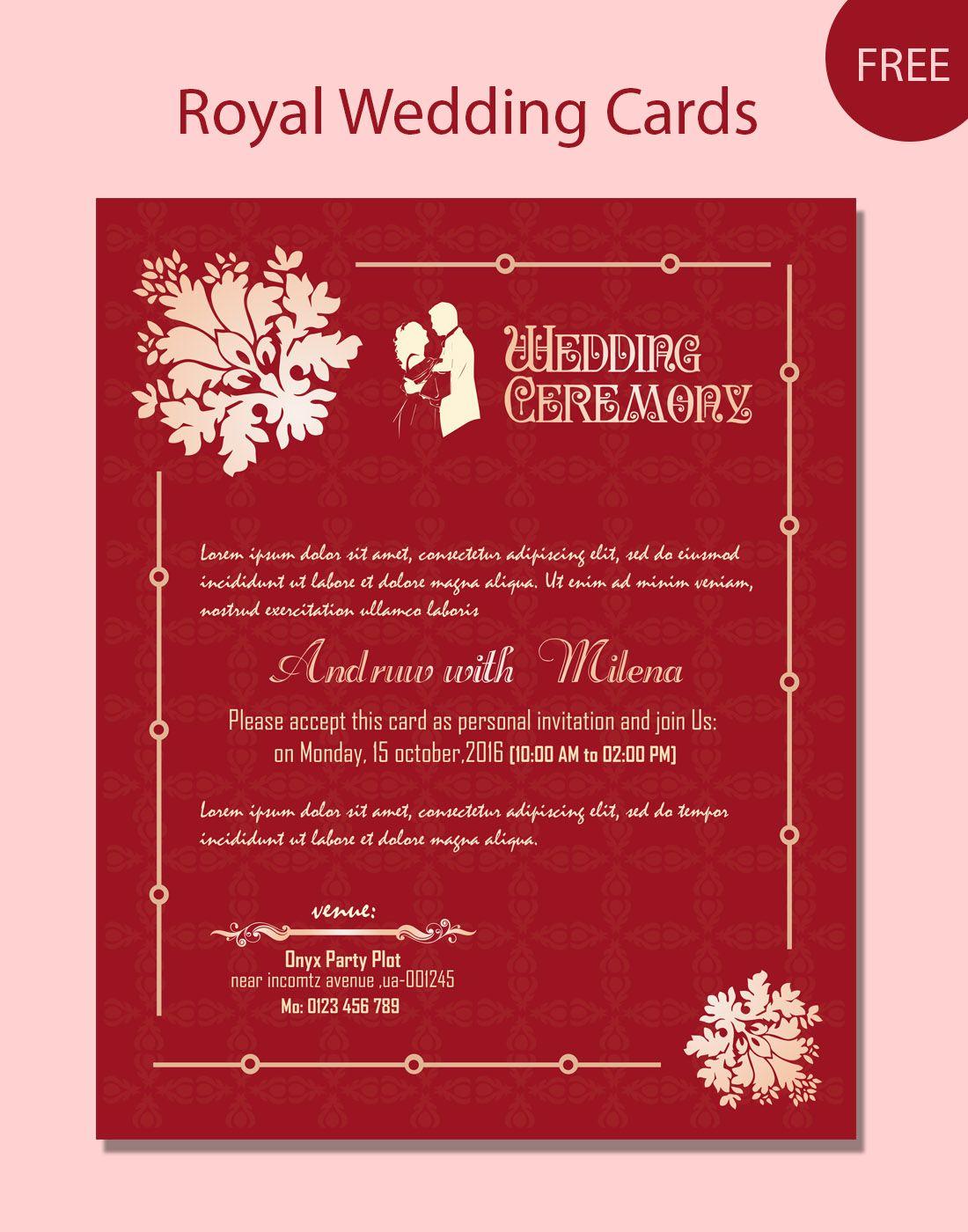 Wedding Card Psd Templates | deweddingjpg.com