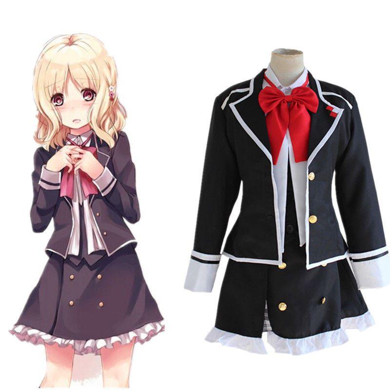 Japanese anime diabolik lovers komori yui school uniform