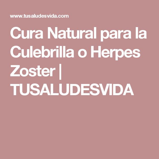 curar herpes zoster con medicina natural