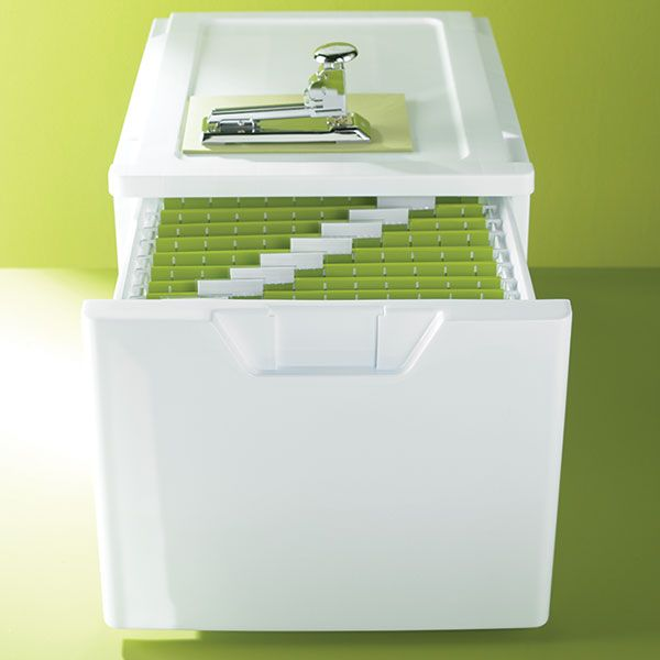 White Stackable Storage U0026 File Drawer | The Container Store