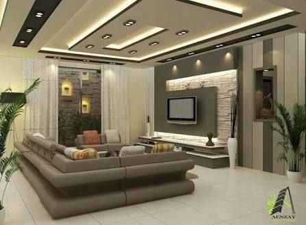 80df2ed59b872c54f4b0870d11042d48 - 17+ Latest Modern Living Room Simple Small House Ceiling Design Gif