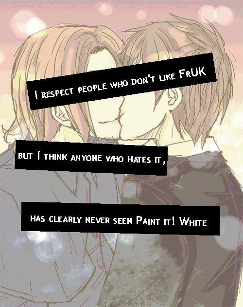 Hetalia: ~FrUk~ Photo: Paint It White = FrUk