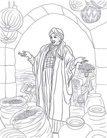 Parable of the Rich Fool coloring page from Jesus