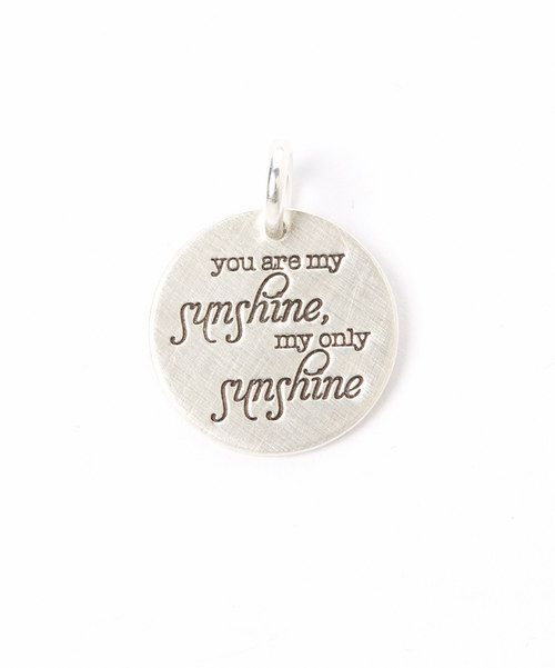 Look at this Sterling Silver 'You Are My Sunshine' Pendant ...