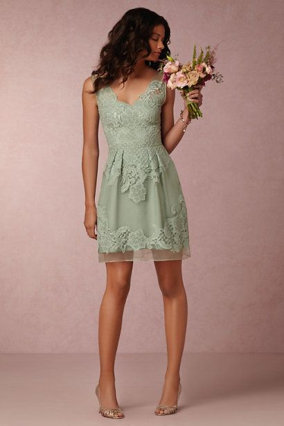 BHLDN Celestina Dress in Bridesmaids Bridesmaid Dresses at BHLDN #sagegreendress