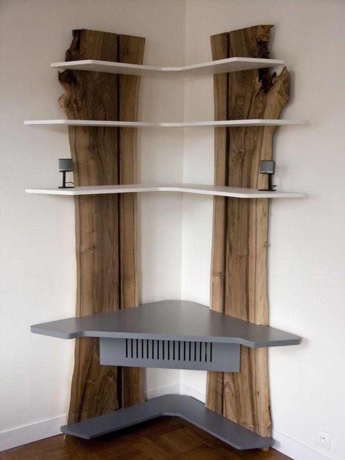 Meuble d 39 angle noyer brut antoine mazurier b niste designer antoine mazurier pinterest - Ebeniste designer meubles ...