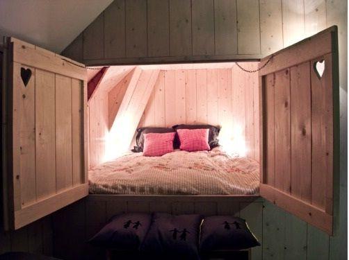 2 Persoons Kast.2 Persoons Bedstee Zolderkamer Bed Closet Slaapkamer
