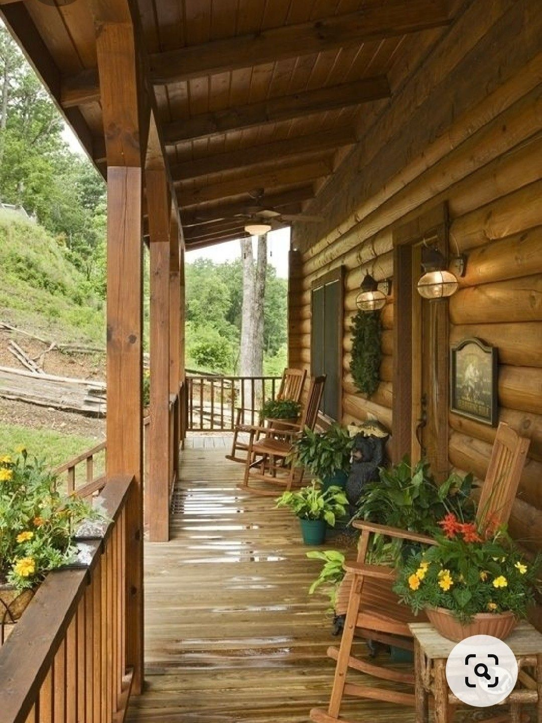 Pin By Marta Cioccari On Relax In 2020 Log Cabin Exterior Rustic Porch House With Porch