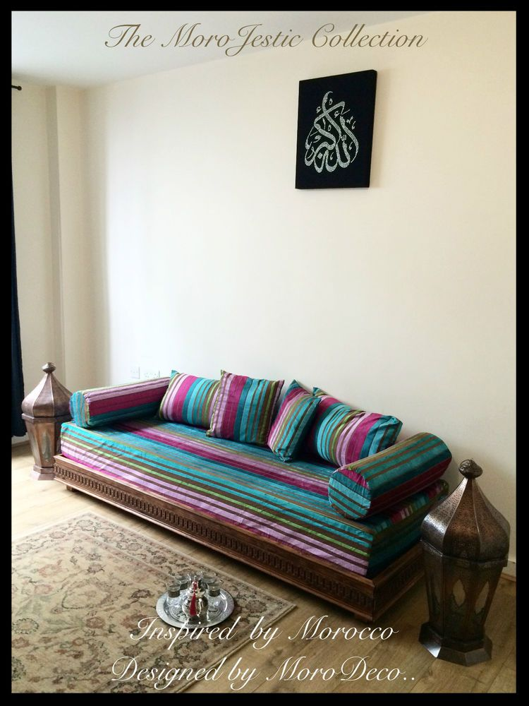 luxurious handcrafted moroccan sofa bench arabian daybed ottoman rh pinterest com