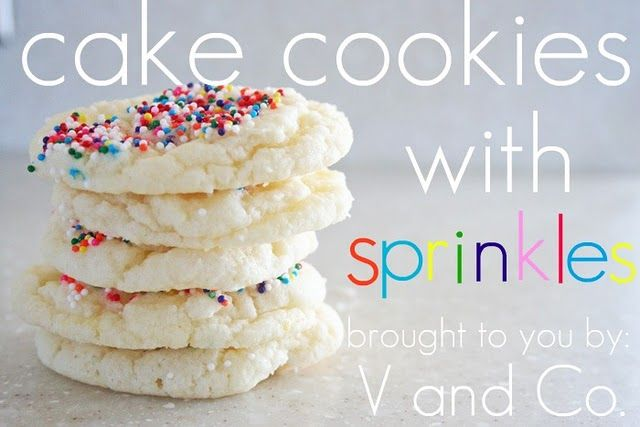 cookies w/ boxed cake mix - no need for sprinkles when you've got FUNFETTI!