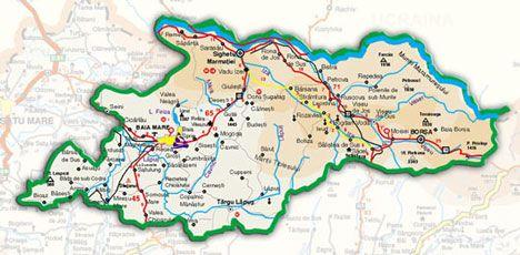 Harta Judet Maramures Tourism Travel Accommodation Vacations