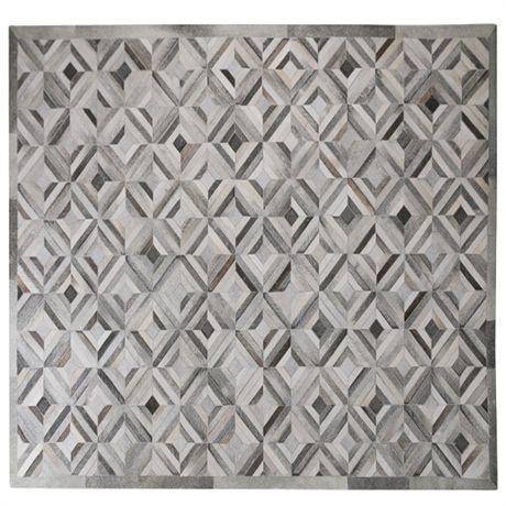 Parquetry Hide Floor Rug 160x230cm