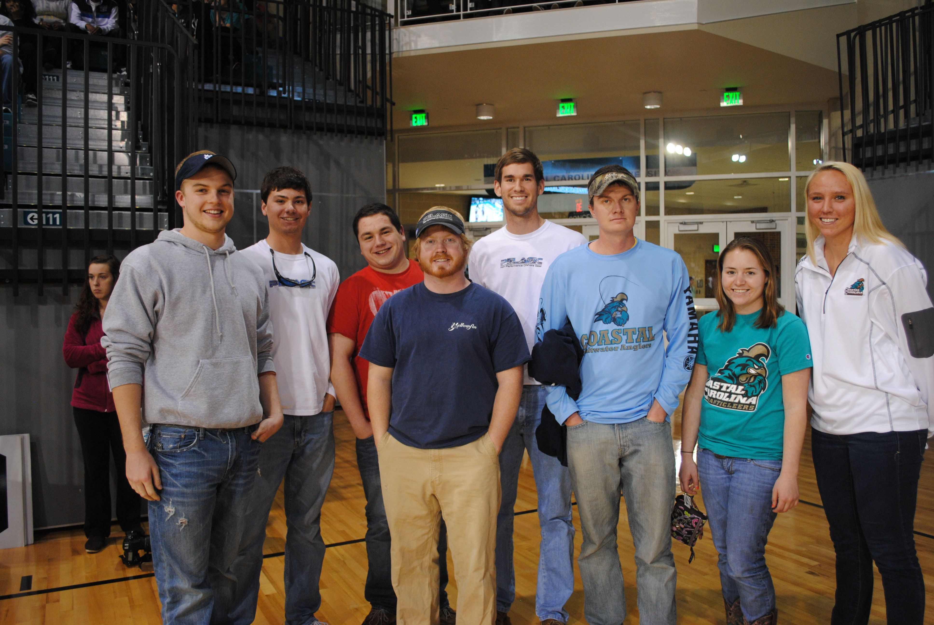 Ccu Angler Club Being Presented At The Basketball Game Basketball Pictures Basketball Games Basketball Rules