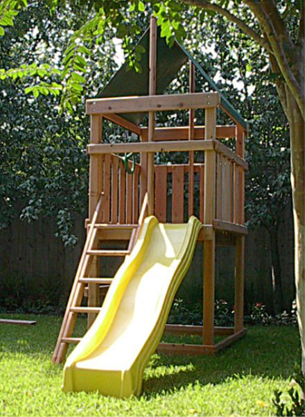 Endeavor Redwood Fort Swingset And Diy Plans Gallery Backyard Fort Backyard For Kids Play Area Backyard