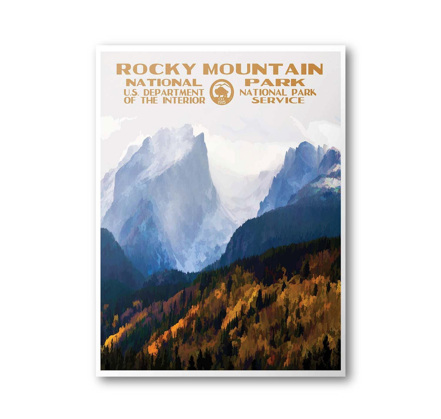 Rocky Mountain National Park Travel Poster & Postcard