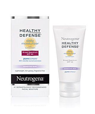 Facial moisturizer sunscreen