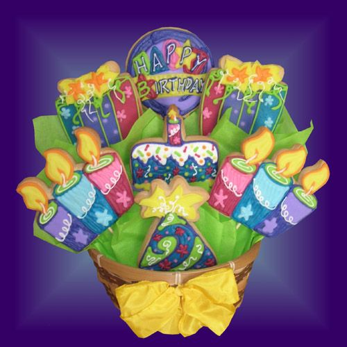 SD15 Gorgeous Bday Cookie Bouquet BUY NOW Cookie Bouquet