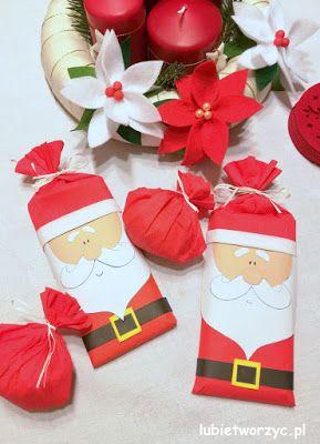 Ciekawy Sposob Na Zapakowanie Prezentu Swiety Mikolaj A W Srodku Czekolada Mikolaj Santa Santaclaus Czekolada C Gift Wrapping Handmade Gifts
