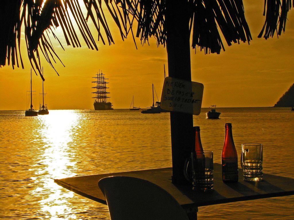 Martinique sunset.