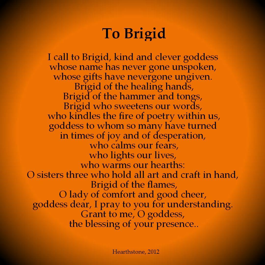 A Prayer To Brigid Irish Celtic Goddess Of Healing Crafts Poetry Celtic Gods Brighid Goddess Celtic Deities