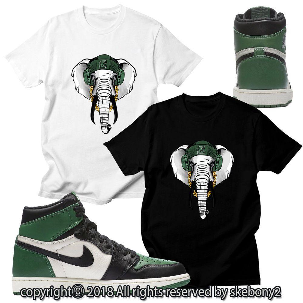 0abce85f755fcc CUSTOM T SHIRT MATCHING STYLE OF Air Jordan 1 Retro High Pine Green JD 1-22-32   fashion  clothing  shoes  accessories  mensclothing  shirts  ad (ebay link)