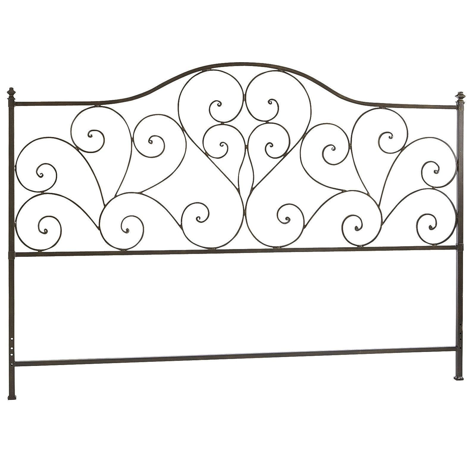 For Those Who Heart Vintage Style Headboards Our Wrought Iron Design Is Accented With Heart Shaped Sc Black Headboard Iron Headboard California King Headboard