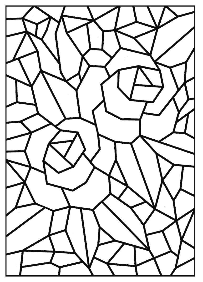 Mosaicos Para Colorir Com Imagens Desenho De Mosaico