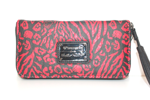 69cfd0c5f3 LOUNGEFLY HELLO KITTY RED BLACK EMBOSSED WALLET Sanrio Store