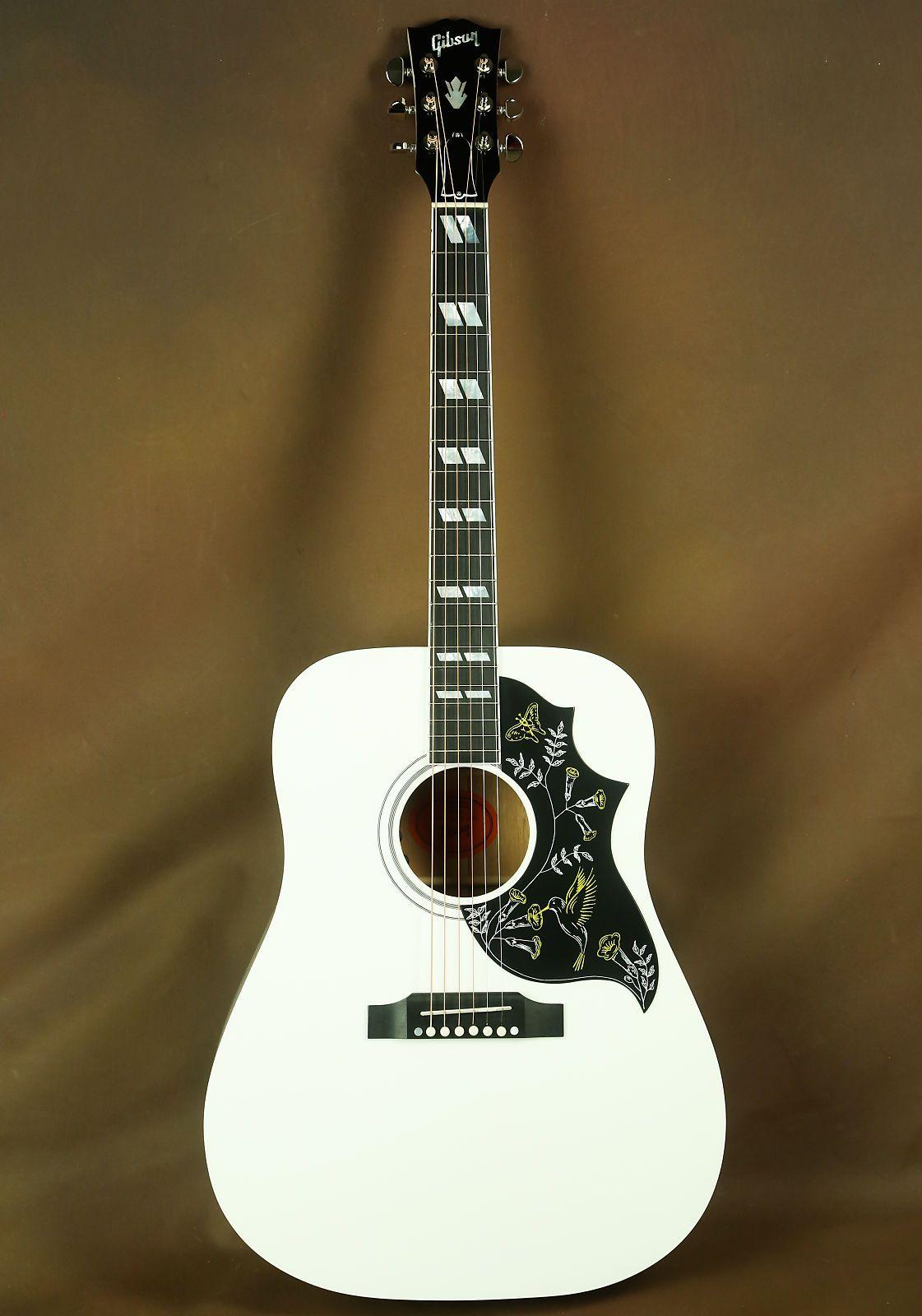 Gibson Hummingbird Alpine White Acoustic Guitar Rare Acoustic Guitar Guitar Gibson Acoustic