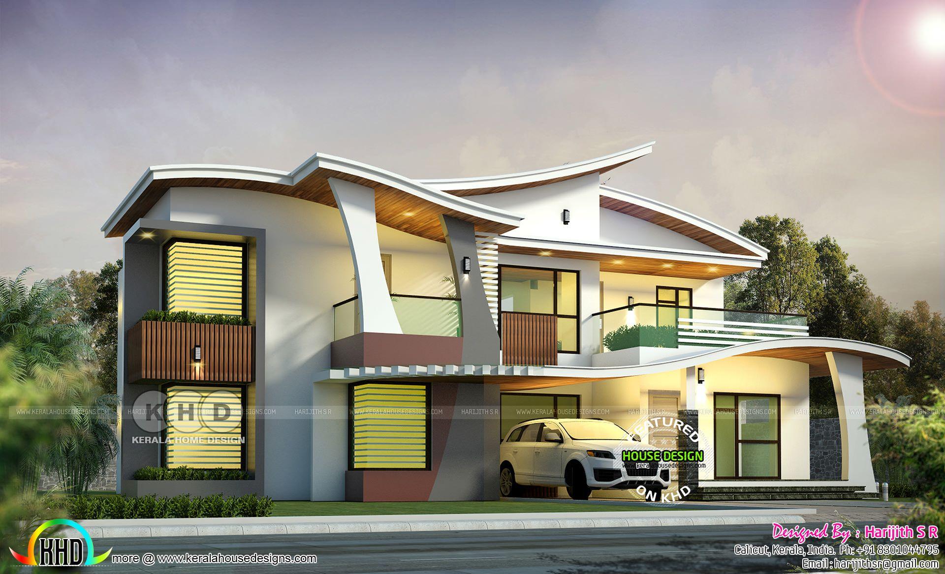 2943 Sq Ft Ultra Modern Kerala Home Design Modern Residential Architecture Kerala House Design Residential Architecture