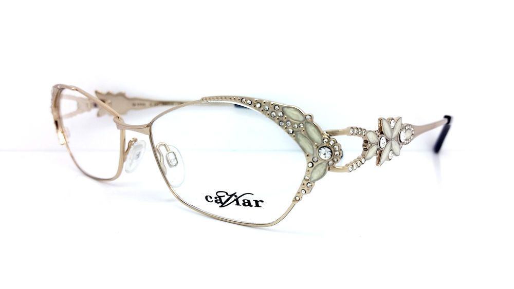 f8af231032 Caviar Eyeglasses M5590 C.21 Gold w Crystals 54mm Made in Italy Caviar 5590   caviar