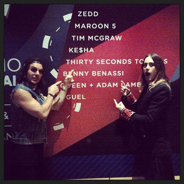 """""""We know the Band - Me + Shannon at iHeartRadio Festival on Saturday."""" Oct, 2013."""