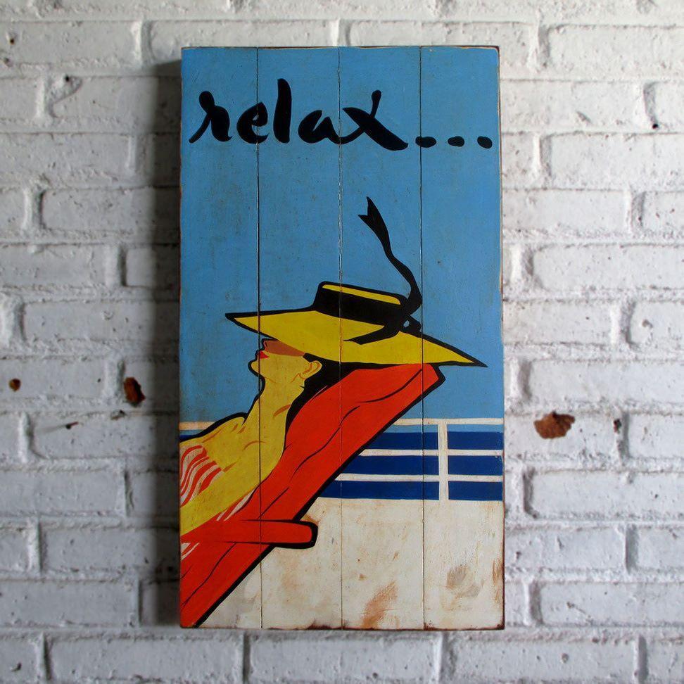 woodpainting 40 x 70 x 2 cm  #woodsign #painting #homedecoration #homeandliving #jogja #vintage #interior #livingroom #homedesign #relax