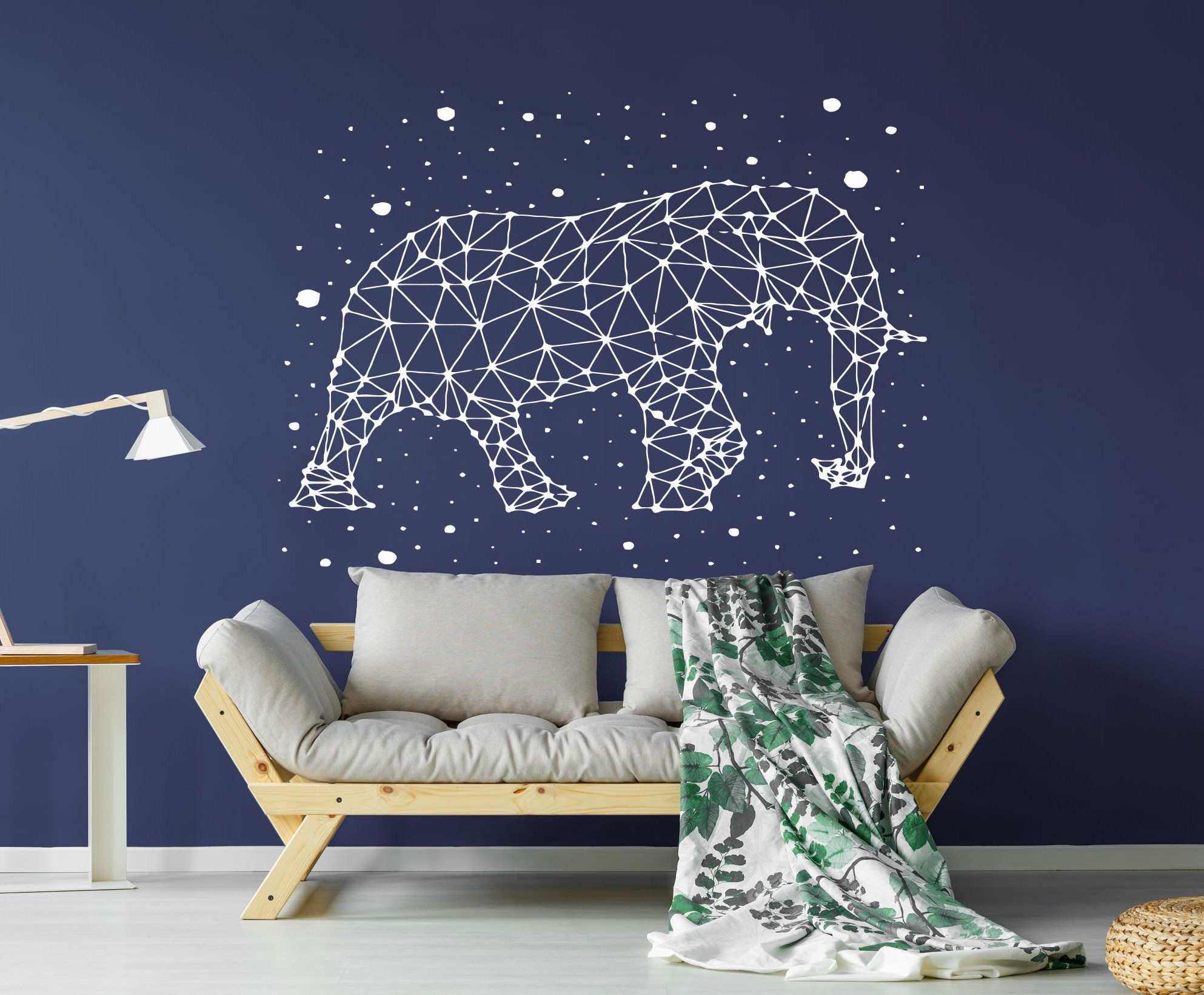Elephant Stars Constellation Wall Decal Animal Stars Wall Sticker Sky Wall Art C08 Constellation Wall Decal Star Wall Wall Decals