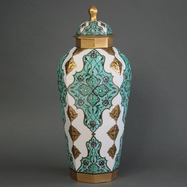 With A Lid Decoration Vase Brand Porcelain Hand Painted Herend