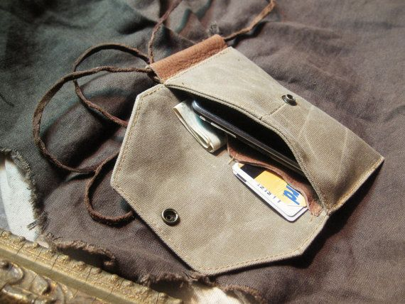 Neck Pouch Wallet by TM1985 on Etsy, $44.00