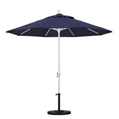 California Umbrella 9\' Market Umbrella Frame Finish: Matted White ...