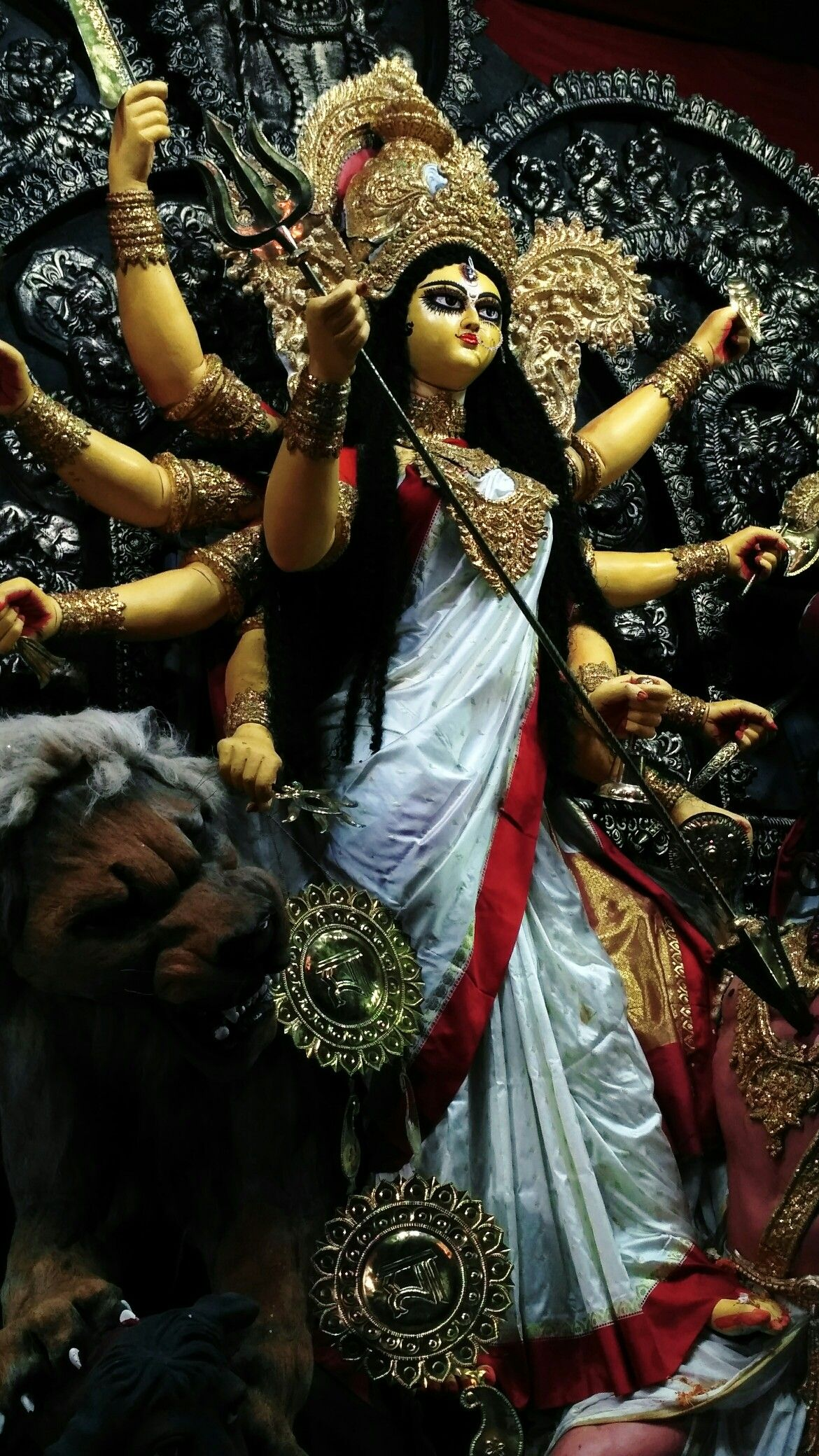 You Re A Bright Beautiful Goddess Durga Goddess Durga Puja Durga Images