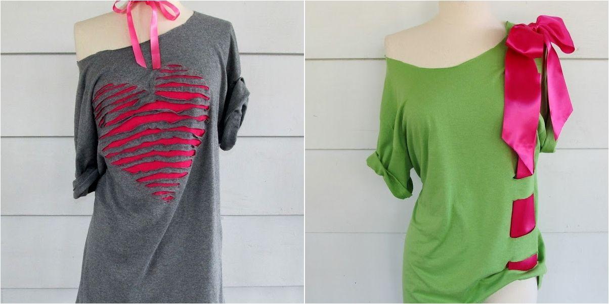 20 ideas para customizar y transformar tus camisetas | apliques ...
