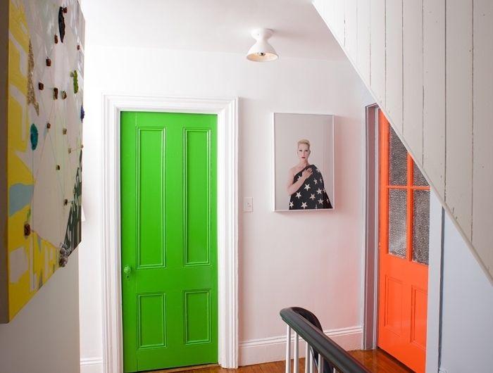 ▷ 1001 + idées originales comment peindre une porte intérieure - Repeindre Une Porte En Bois