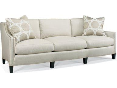 Three Seat Cushions Two Throw Pillows 22 X 22 Standard 1 Pn Nail Head Trim Standard As Shown Hickory White Furniture White Sofa Living Room Hickory White
