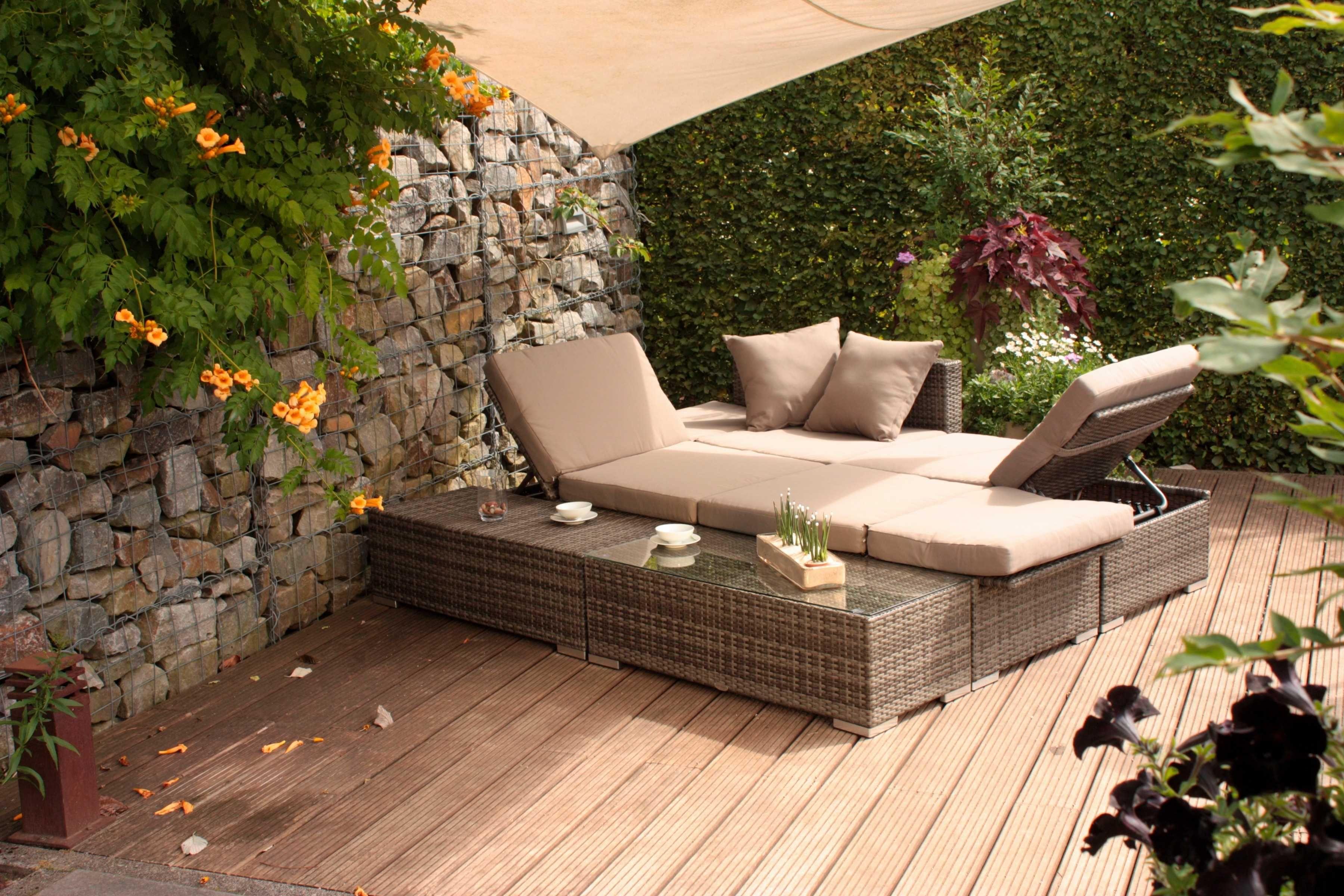 Garden Pleasure Set Loungeset Alcudia 10 Tlg 2 Sessel Tisch