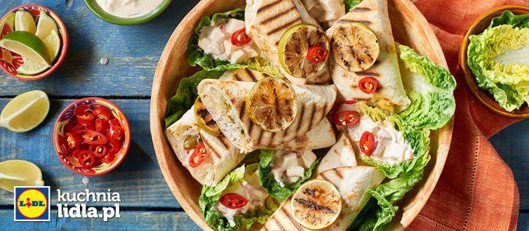 Tortilla Z Kurczakiem I Salsą Z Pieczonej Papryki Kuchnia