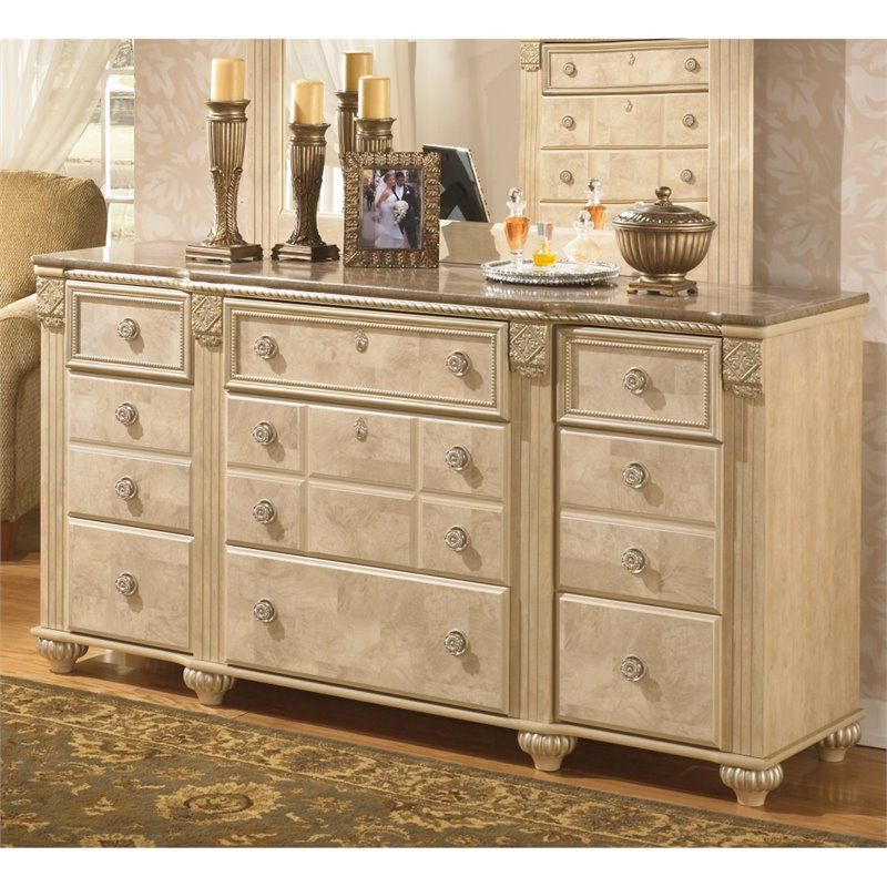 Lowest Price Online On All Ashley Saveaha 9 Drawer Wood Triple Best Ashley Bedroom Dressers Design Ideas