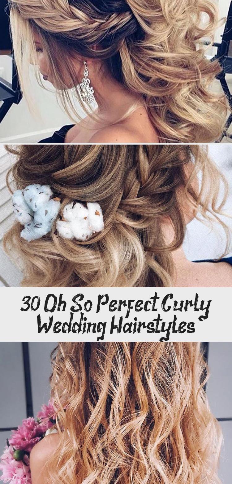 30 Oh so perfekte lockige Hochzeitsfrisuren – Frisur, #Curly #Hirstyle #Hairstyles