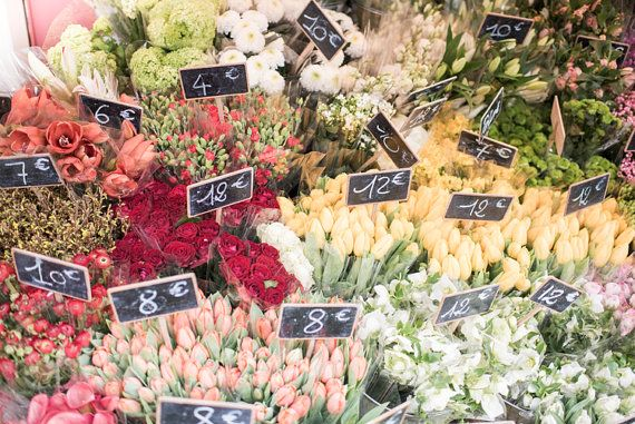 Paris Photography  Spring Market Flowers Paris by ParisianMoments